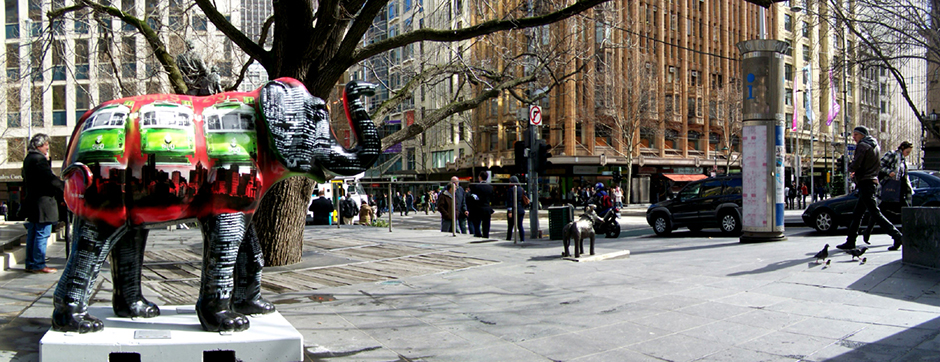 Sculpture Swanston/Collins Sts.